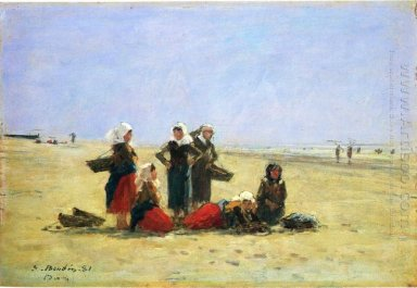 Women On The Beach At Berck 1881