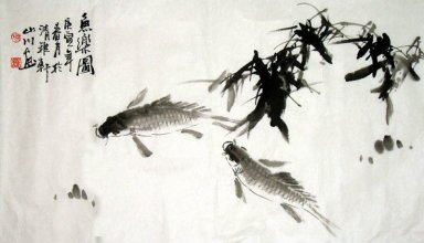 Fish-Happy fish(ink) - Chinese Painting