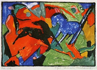 Two Horses 1912