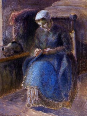 woman sewing 1881
