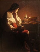 Repenting Magdalene Also Called Magdalene In A Flickering Light