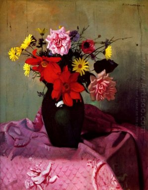 Pinks And Daisies Or Pinks And Dahlias 1912