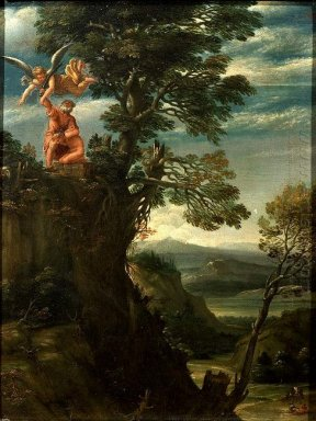 landscape with the sacrifice of isaac