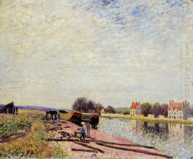 barges on the loing saint mammes 1884