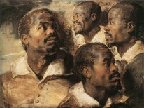 Four Studies of the Head of a Negro