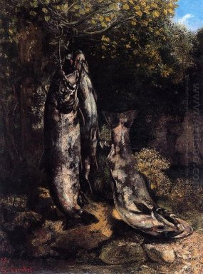 Still Life With Three Trout From The Loue River 1873