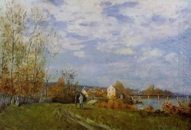 banks of the seine at bougival 1876