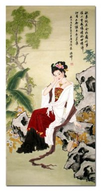 Beautiful Lady - Chinese Painting