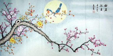 Plum flower - Magpies - Chinese Painting