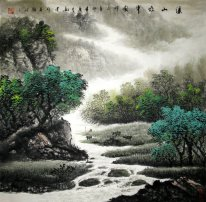 Tree, River - Chinese Painting