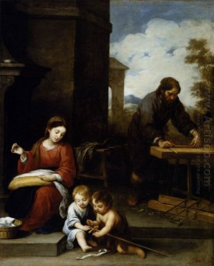 The Holy Family With The Infant St John The Baptist 1670