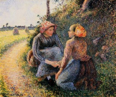 seated and kneeling peasants 1893