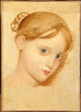 Head Of A Young Blond Girl With Blue Eyes Laure Zoega