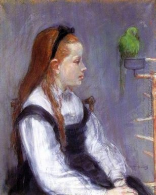 Young Girl With A Parrot