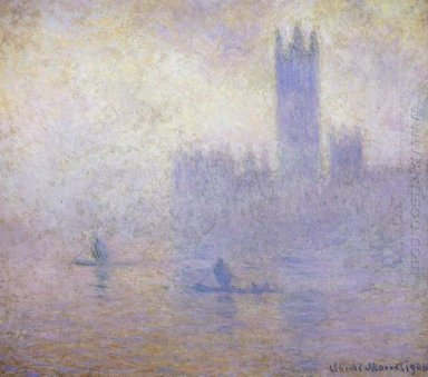 Houses Of Parliament Fog Effect 1901
