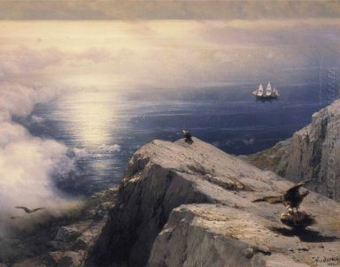 A Rocky Coastal Landscape In The Aegean 1884