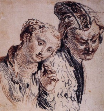 sketch with two figures 1715