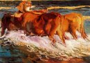 Oxen In The Sea Study For Sun Of Afternoon 1903