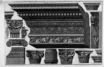 Architrave Frieze Cornice Various Capitals Saints Cosmas And Dam