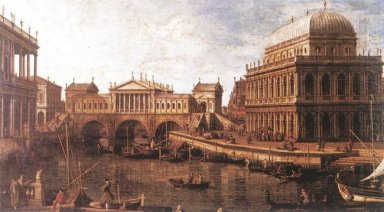 capriccio a palladian design for the rialto bridge with building