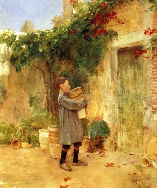 Boy With Flower Pots