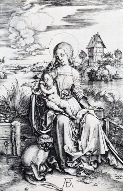 madonna with the monkey 1498