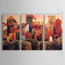 Tangan-Dicat Landscape Oil Painting - Set 3