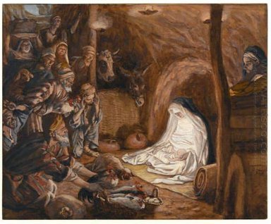The Adoration Of The Shepherds Illustration For The Life Of Chri