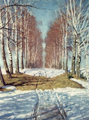 Avenue Of Birch Trees 1940