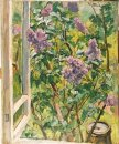 Still Life Lilacs In The Window 1940