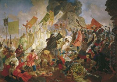 Siege Of Pskov By Polish King Stefan Batory In 1581 1843