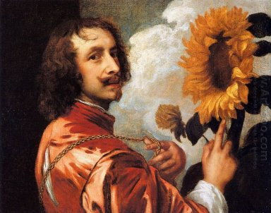 self portrait with a sunflower 1632