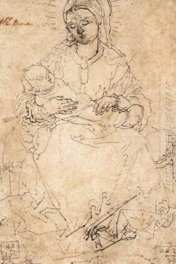 madonna and child on a stone bench 1520