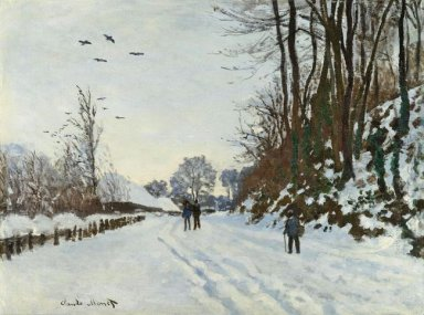 The Road To The Farm Of Saint Simeon In Winter