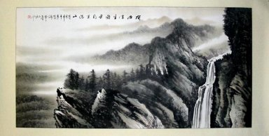 Mountains,stream - Chinese Painting