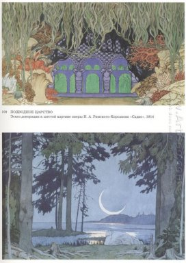 Sketches Of Scenery For Sadko By Nikolai Rimsky Korsakov 1914