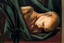 DETAIL OF MURAL OF HUMAN RIGHTS. DEAD CHILD 1953