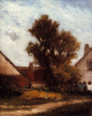 tree in the farm yard 1874
