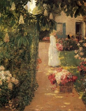 Gathering Flowers In A French Garden 1888