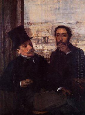 self portrait with evariste de valernes
