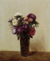 Vase Of Flowers Queens Daisies 1872
