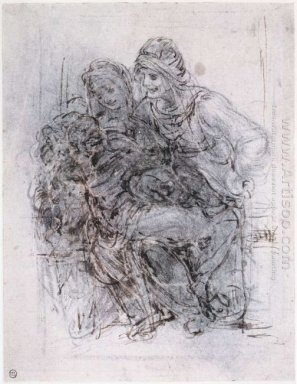 Study Of St Anne Mary And The Christ Child