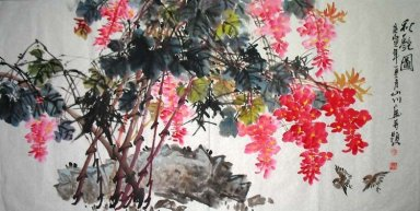 Birds&Flowers(Red) - Chinese Painting