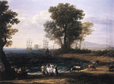 Coast Scene With The Rape Of Europa 1667