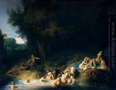 Diana and her Nymphs Bathing, with Actaeon and Callisto