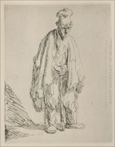 A Beggar Standing And Leaning On A Stick 1632