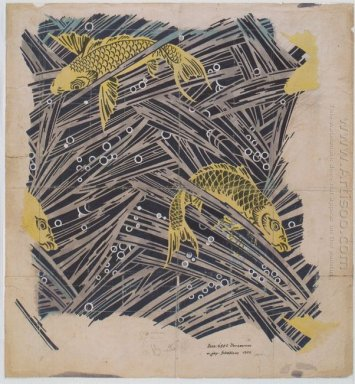 Fabric Design With Trout Dance For Backhausen 1899