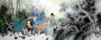 Gaoshi play chess-Chinese Painting
