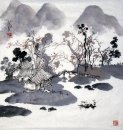 Small mountain village - Chinese Painting