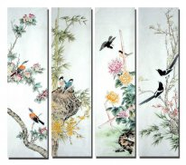 Birds & Flowers - FourInOne - pittura cinese